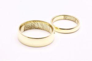 trouwringen vingerafdruk goudsmid Best Eindhoven bicolor oud goud nieuw goud recycled diamant Son Breugel Sint Oedenrode Oirschot