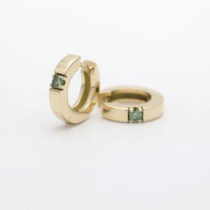 creolen diamant groen goudsmid best eindhoven Tilburg Den Bosch