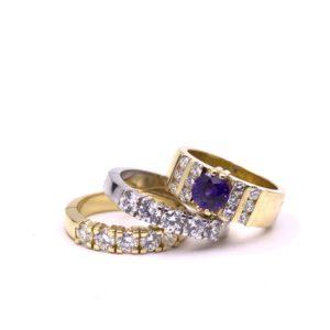 maatwerk ring goudsmid saffier diamant