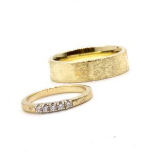 trouwringen goudsmid Best Eindhoven bicolor oud goud nieuw goud recycled diamant Tilburg Den Bosch