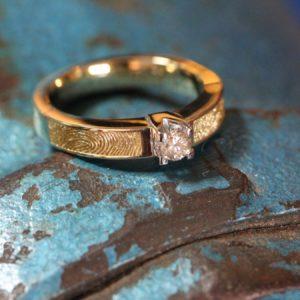 trouwring diamant vingerafdrukken