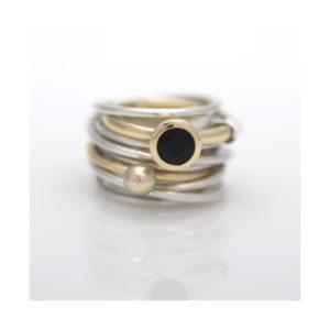 ring diamant parel saffier goudsmid best eindhoven Tilburg Den Bosch