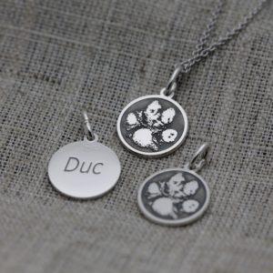 hondenpoot hondenpootje herdenking herinnering sieraad