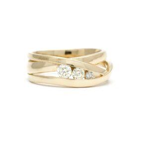goudsmid Best eindhoven wikkelring oud goud baantjes ring omsmelten diamant