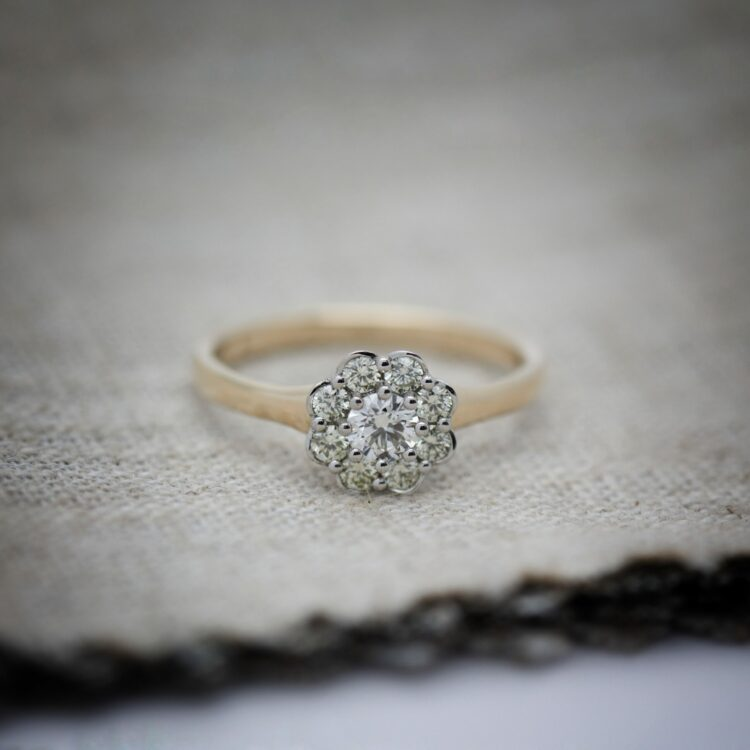 Lonneke Goudsmid Rozetring entouragering diamant