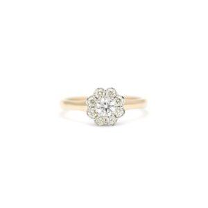 moderne entourage diamant ring Lonneke goudsmid Best