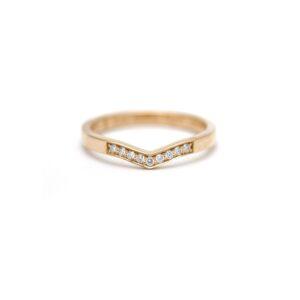 v-ring diamant aanschuifring trouwring stapelring goudsmid Lonneke Keuten