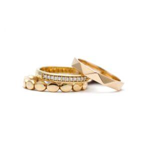 stapelringen aanschuifringen goudsmid Lonneke oud goud omsmelten