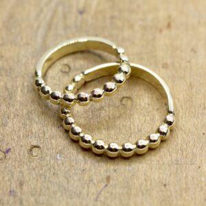 Trouwring vermaken naar 2 bolletjes ringen