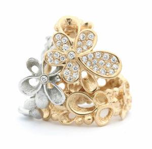 violina bloem goud per Borup goudsmid ring